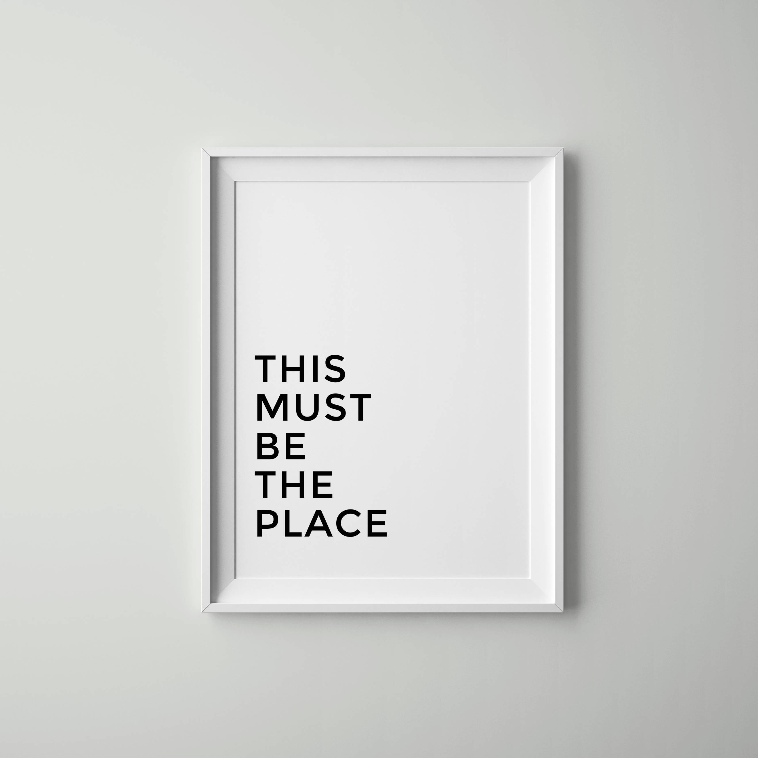 This Must Be The Place Poster Scandinavian Decor Tumblr   Etsy With Tumblr Wall Art (View 7 of 20)
