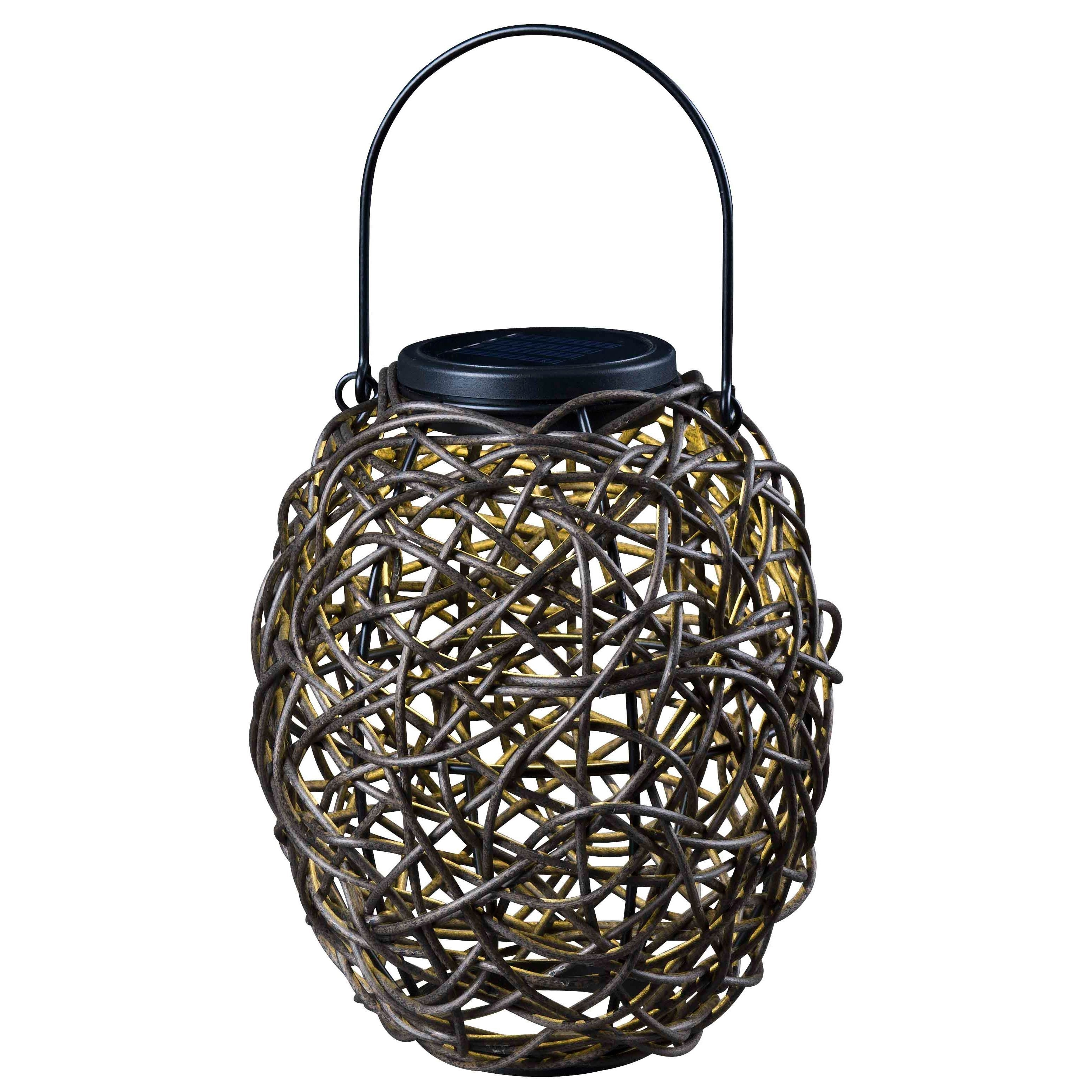 This Outdoor Solar Lantern Makes A Great Accent For Any Garden Area In Outdoor Rattan Lanterns (View 18 of 20)