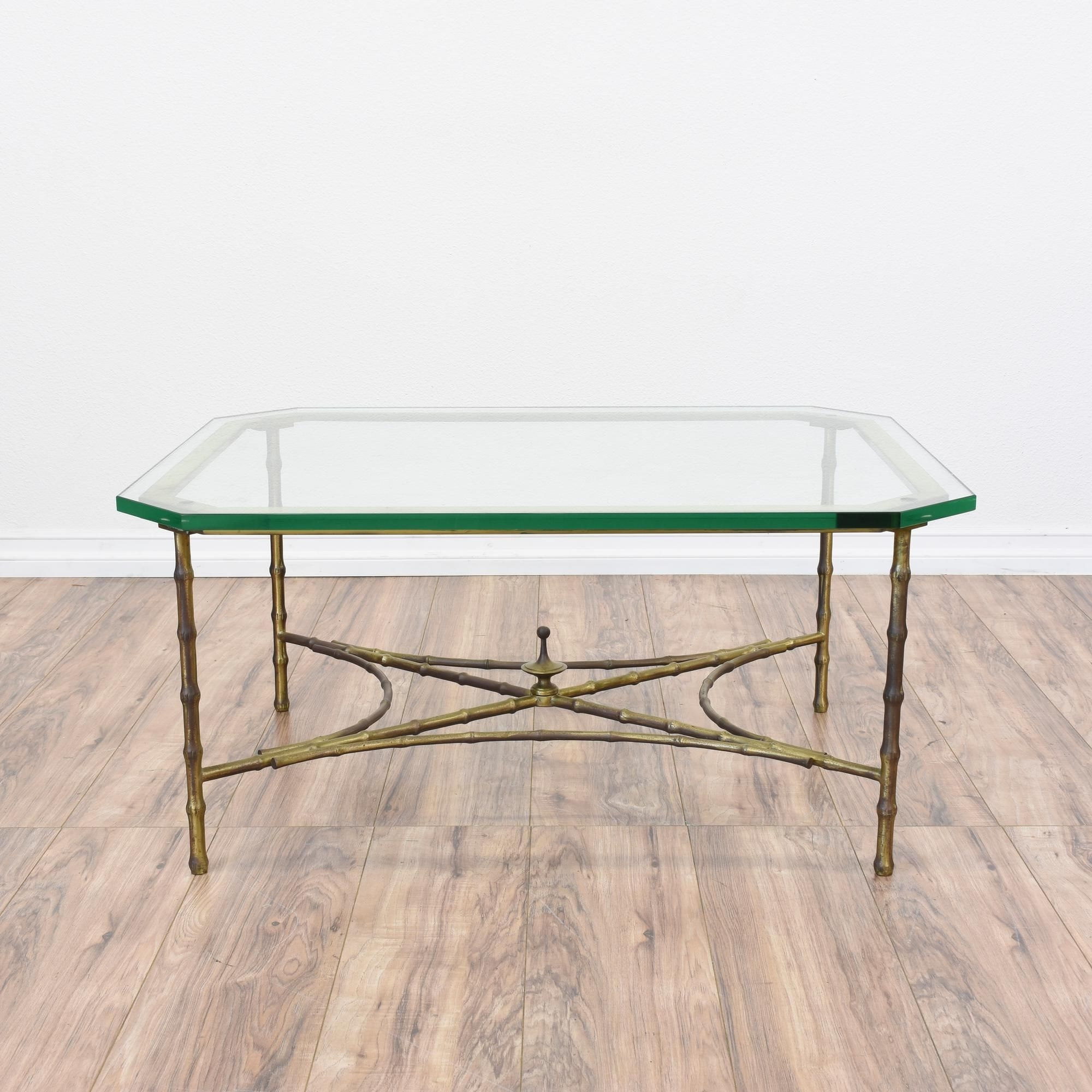 This Regency Coffee Table Is Featured In A Metal With A Shiny Brass throughout Rectangular Brass Finish and Glass Coffee Tables (Image 26 of 30)