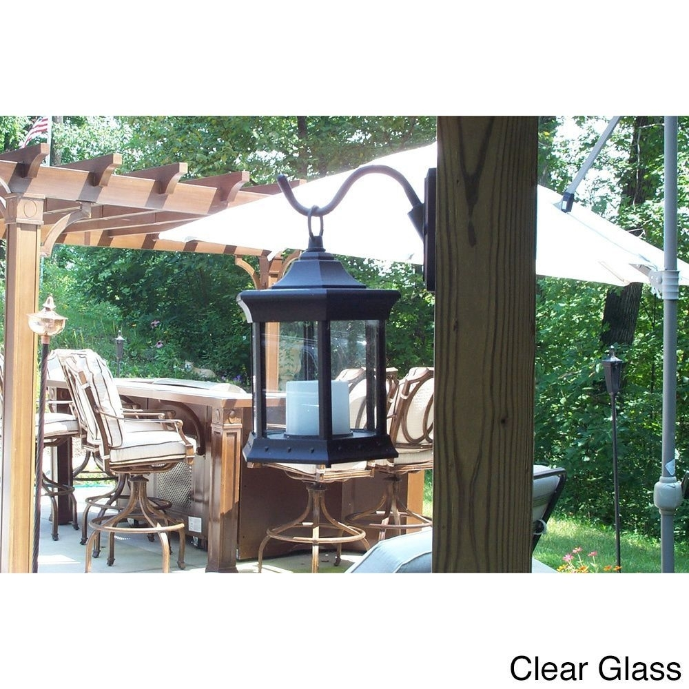 This Solar Lantern Sconce Creates A Safe Ambient Candlelight inside Outdoor Gazebo Lanterns (Image 20 of 20)