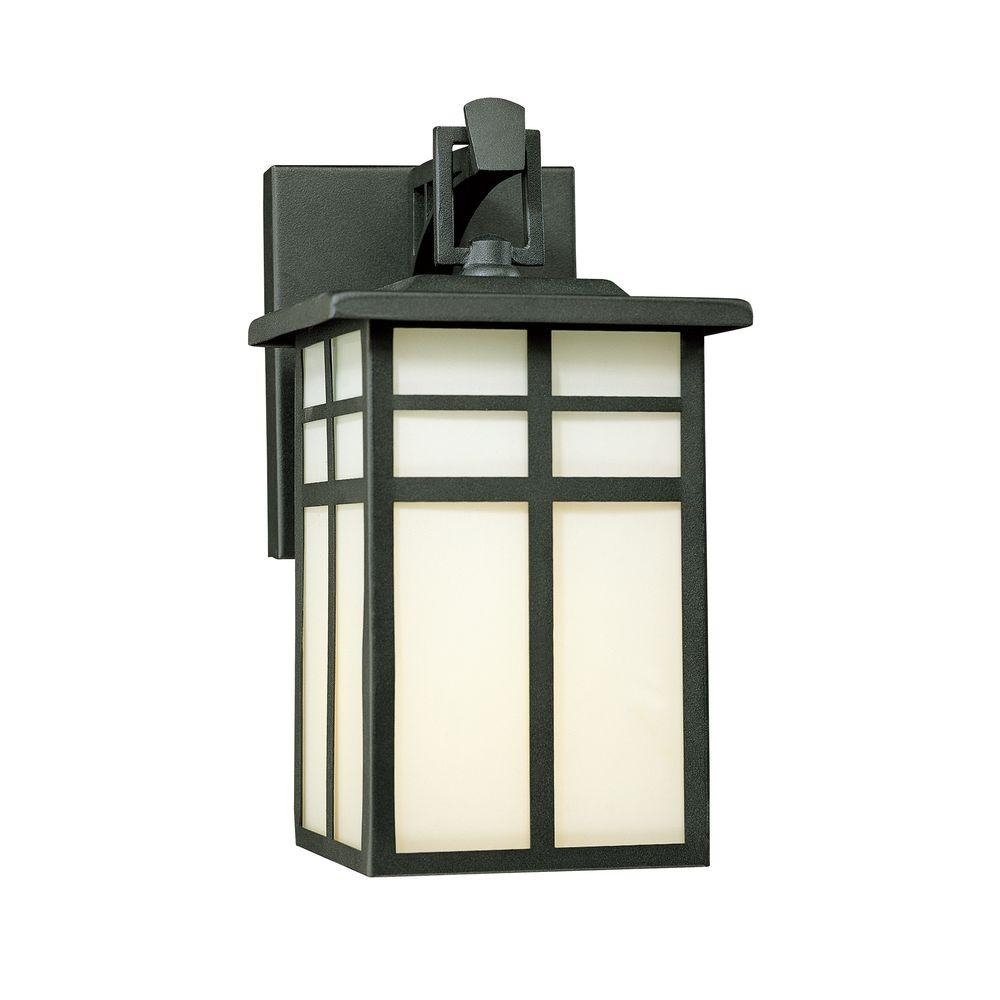 Thomas Lighting Mission 1 Light Black Outdoor Wall Mount Lantern Inside Inexpensive Outdoor Lanterns (View 17 of 20)
