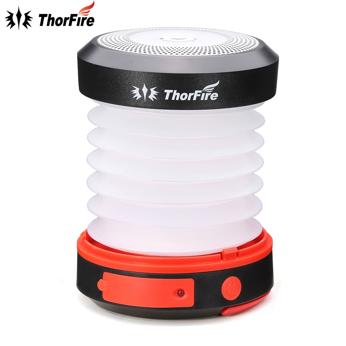 Thorfire Portable Solar Led Camping Lantern Usb Rechargeable Light Intended For Outdoor Rechargeable Lanterns (View 19 of 20)