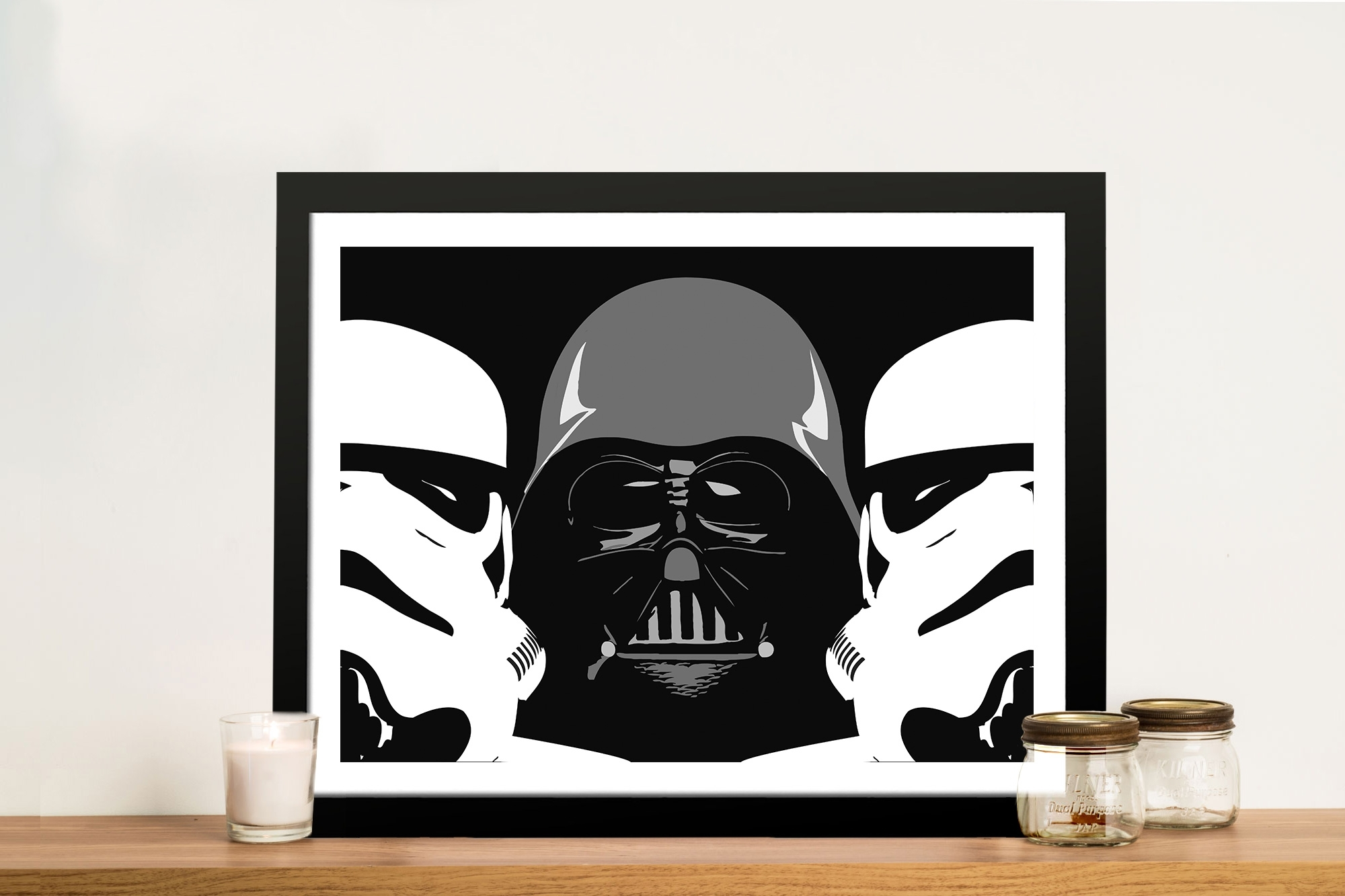 Three Amigos Darth Vader Wall Art - Canvas Prints Australia pertaining to Darth Vader Wall Art (Image 20 of 20)