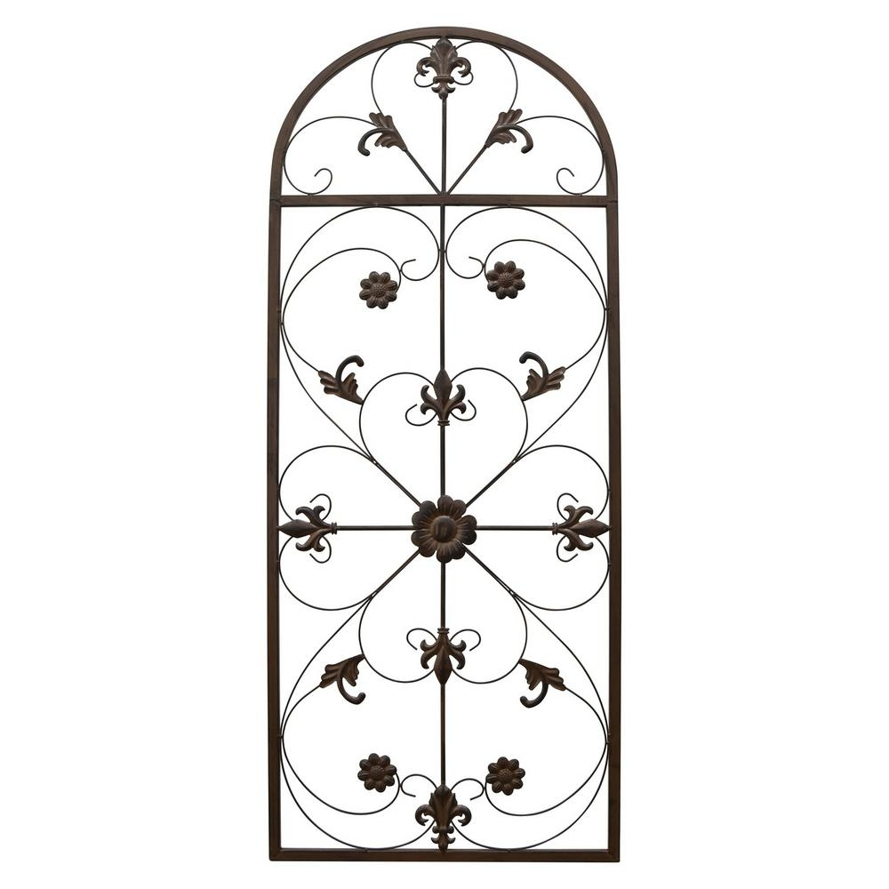 Three Hands 57 In. Metal Scroll Wall Art-66876 - The Home Depot in Metal Scroll Wall Art (Image 15 of 20)