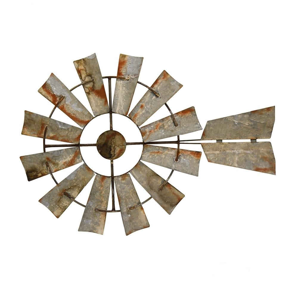 Three Hands Gray Metal Windmill Wall Art 91198 – The Home Depot For Windmill Wall Art (View 16 of 20)