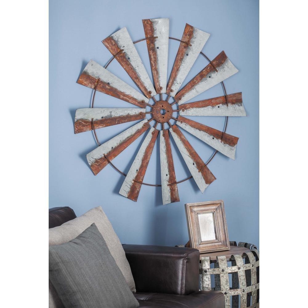 Three Hands Gray Metal Windmill Wall Art 91198 – The Home Depot Regarding Windmill Wall Art (View 8 of 20)