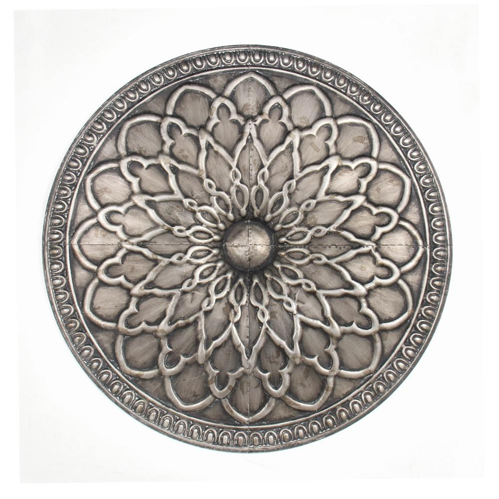 Three Hands Silver Metal Wall Art 99785 – The Home Depot Intended For Metallic Wall Art (View 10 of 20)