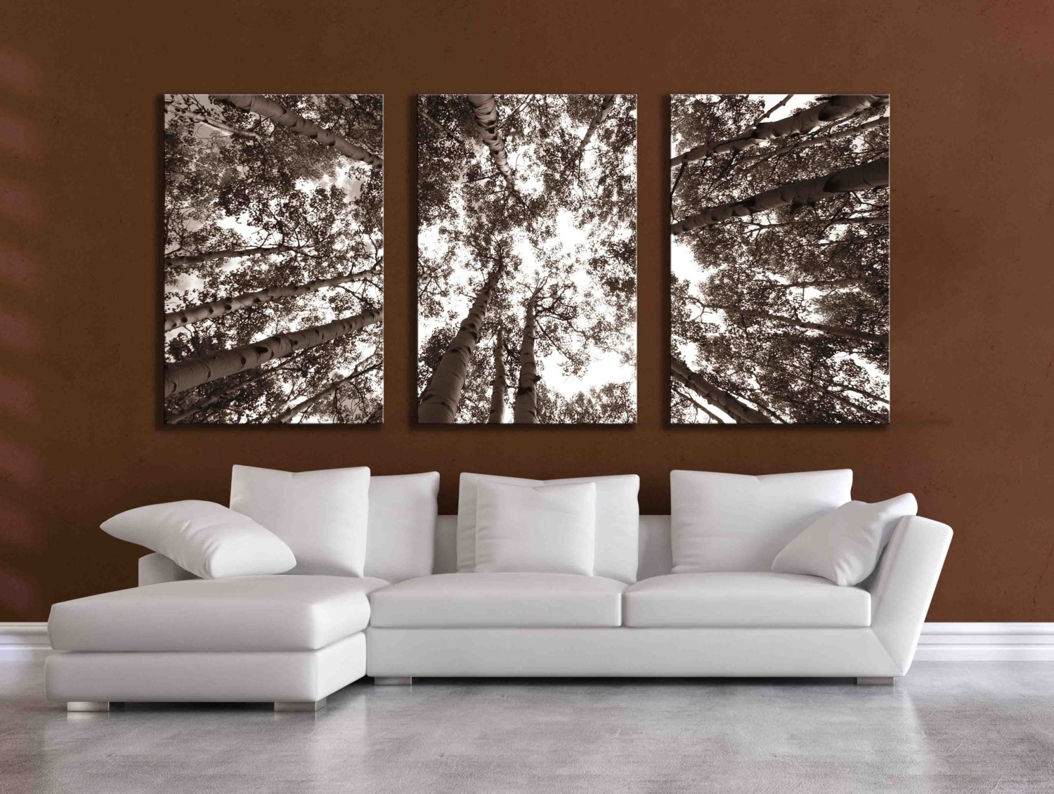 Three Large Multi Panel Wall Art Aspen 20x24 Inch Or 24x36, Wall In Wall Art Panels (View 12 of 20)