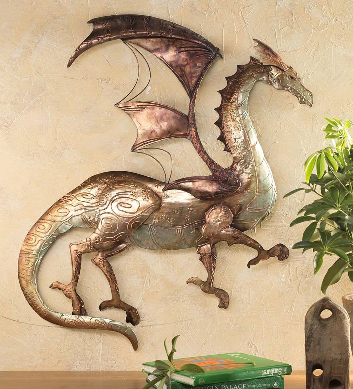 Tin Dragon Wall Art   Wall Art   Home Decor   For The Home   Wind with regard to Tin Wall Art (Image 13 of 20)