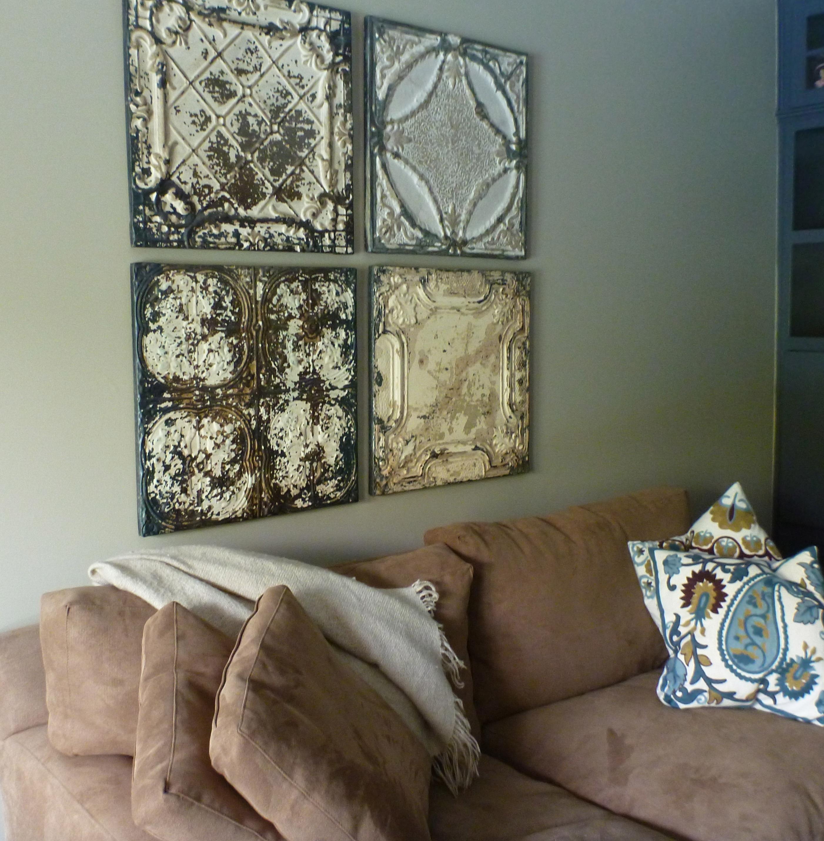 Tin Tile Wall Decor   Jonathan Steele inside Tin Wall Art (Image 14 of 20)