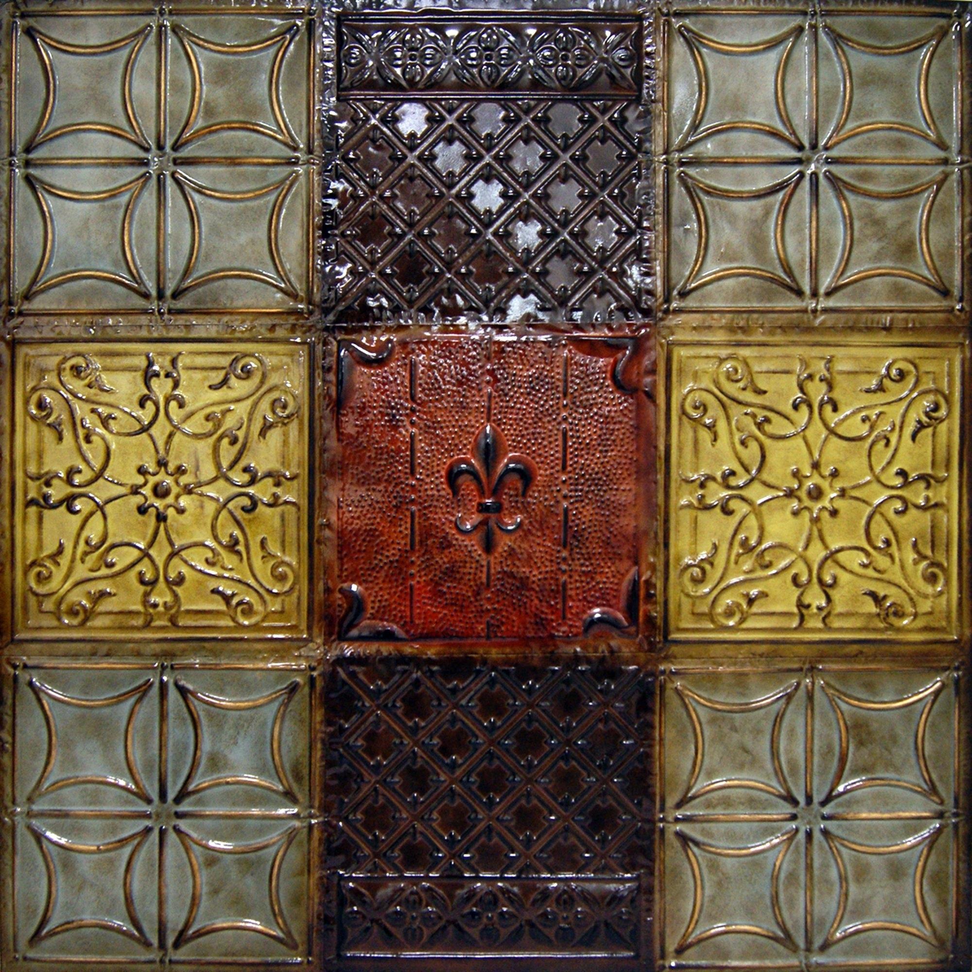 Tin Wall Hangings - Photos Wall And Door Tinfishclematis throughout Tin Wall Art (Image 18 of 20)