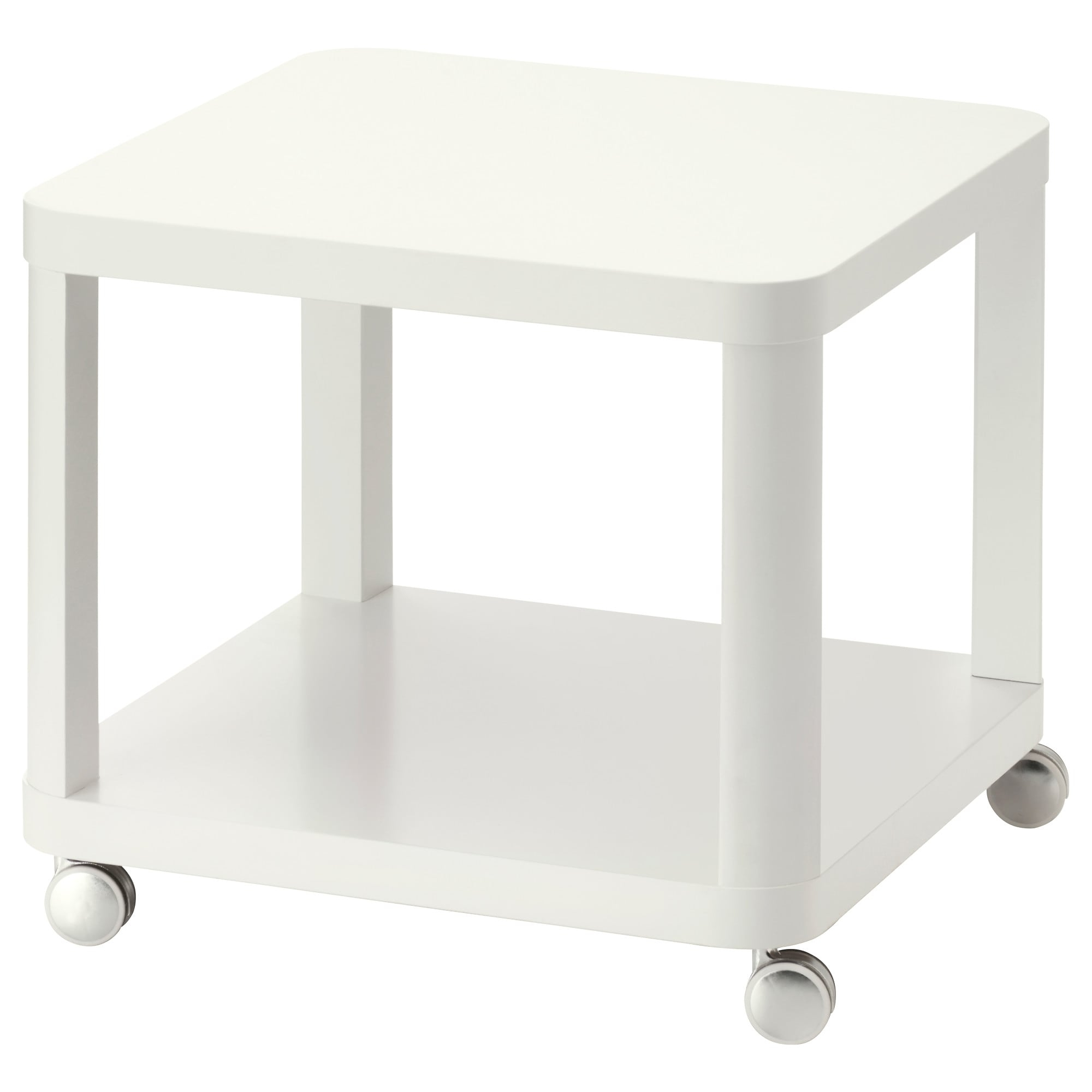 Tingby Side Table On Casters - White - Ikea regarding Go-Cart White Rolling Coffee Tables (Image 27 of 30)