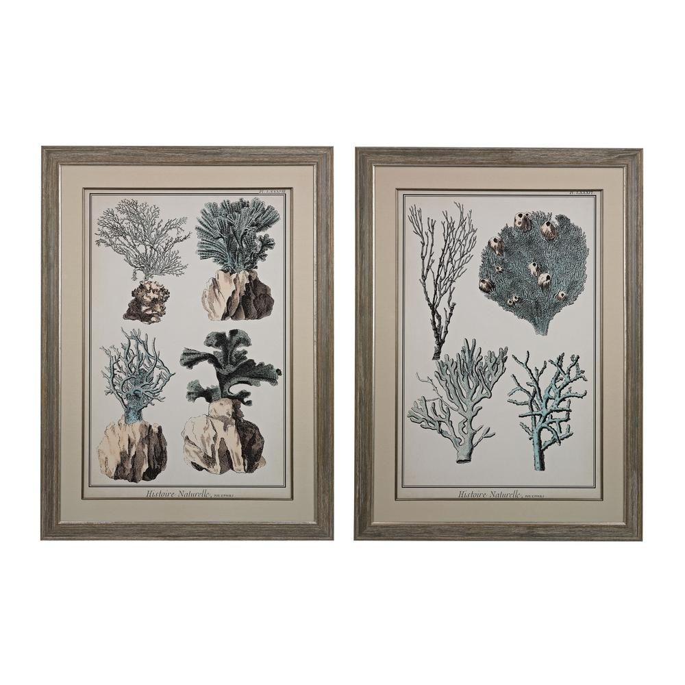 "Titan Lighting 45 In. X 33 In. ""oversized Coral Species"" Framed within Coral Wall Art (Image 19 of 20)"