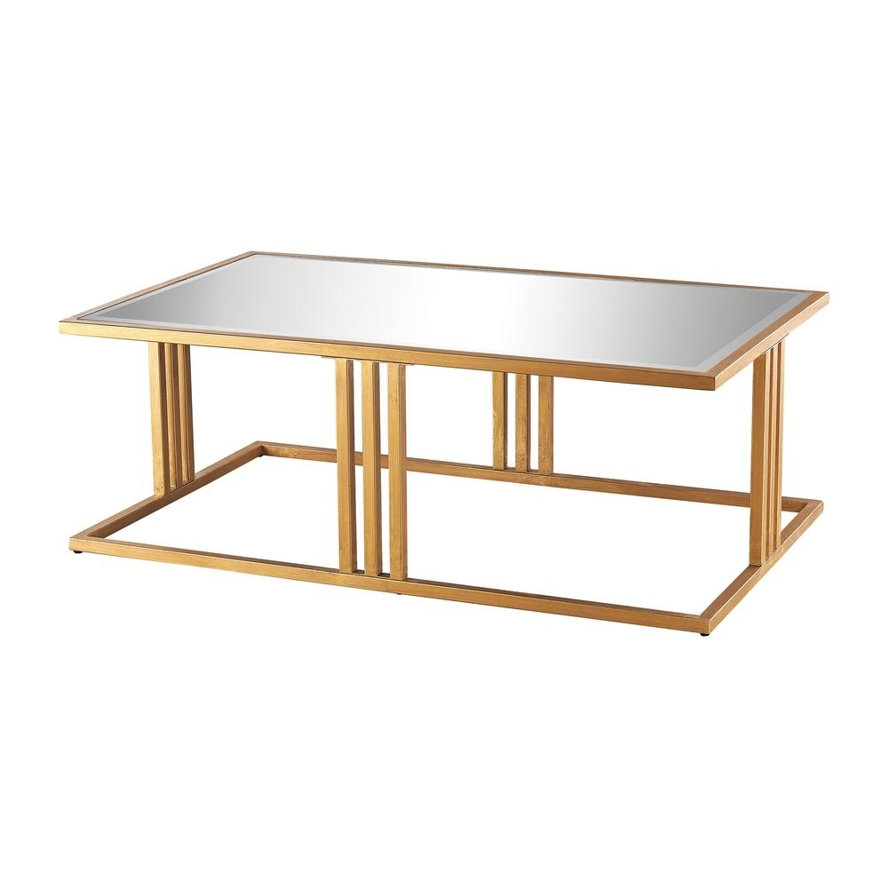 Titan Lighting Andy Gold Leaf And Mirror Coffee Table-Tn-892432 for Gold Leaf Collection Coffee Tables (Image 29 of 30)