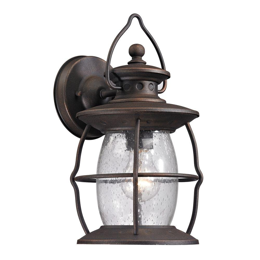 Titan Lighting Big Oak Forge Collection 1-Light Weathered Charcoal in Outdoor Big Lanterns (Image 20 of 20)