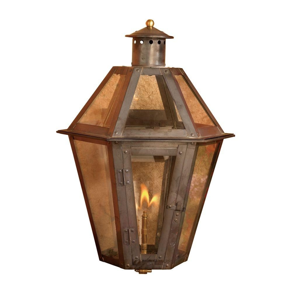 Titan Lighting Grand Isle 23 In. Outdoor Washed Pewter Gas Wall with regard to Outdoor Gas Lanterns (Image 19 of 20)
