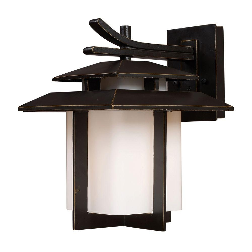 Titan Lighting Kanso Outdoor Hazelnut Bronze Wall Sconce-Tn-5244 with regard to Outdoor Japanese Lanterns (Image 18 of 20)