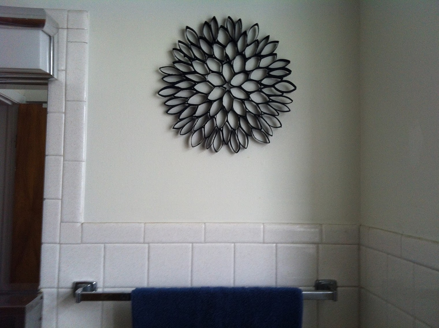 Toilet Paper Roll Art For Wall Decor, Paper Wall Art - The Beyer within Toilet Paper Roll Wall Art (Image 9 of 20)