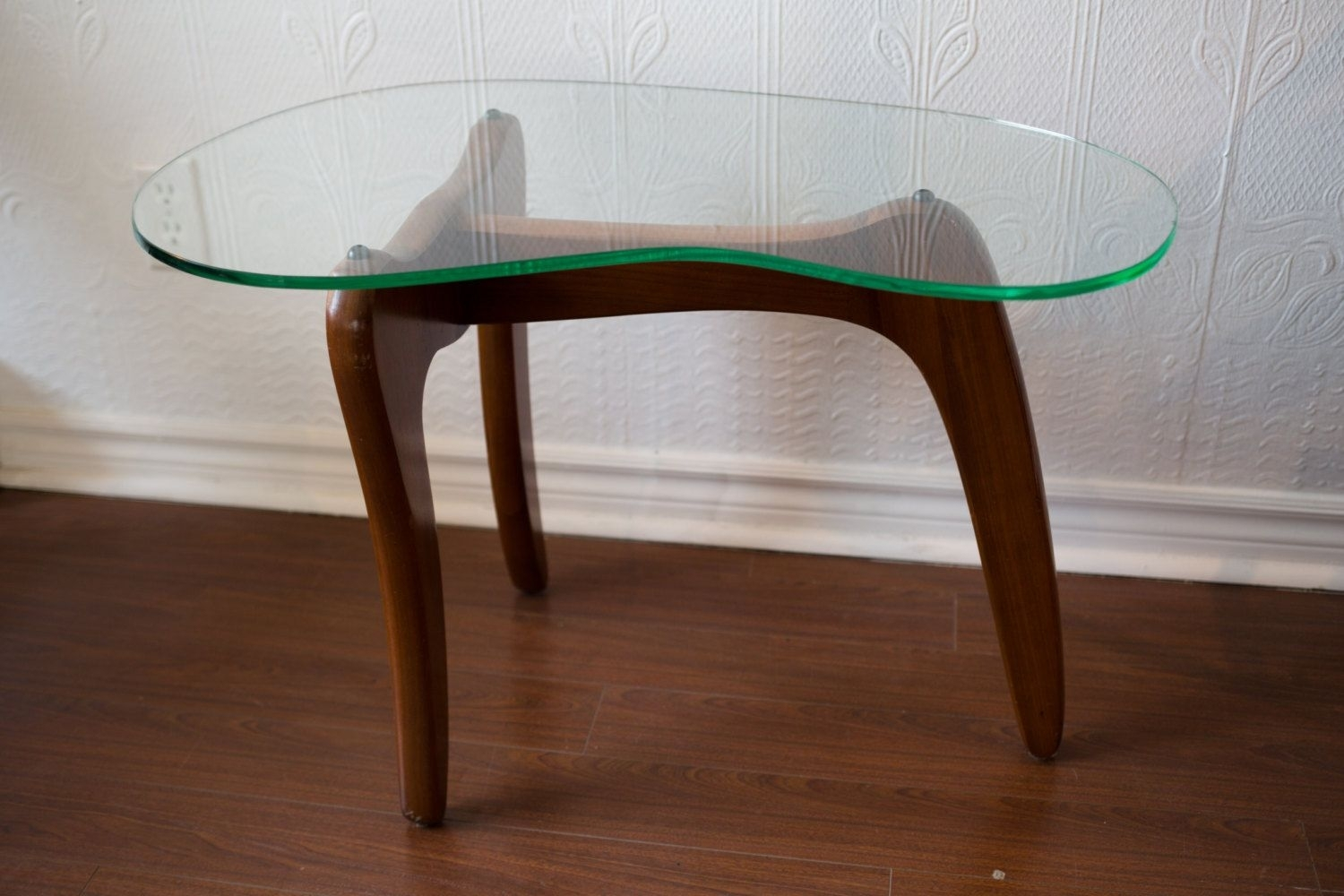 Toronto - Mid Century Modern Small Wood Coffee Table With Kidney in Jelly Bean Coffee Tables (Image 29 of 30)