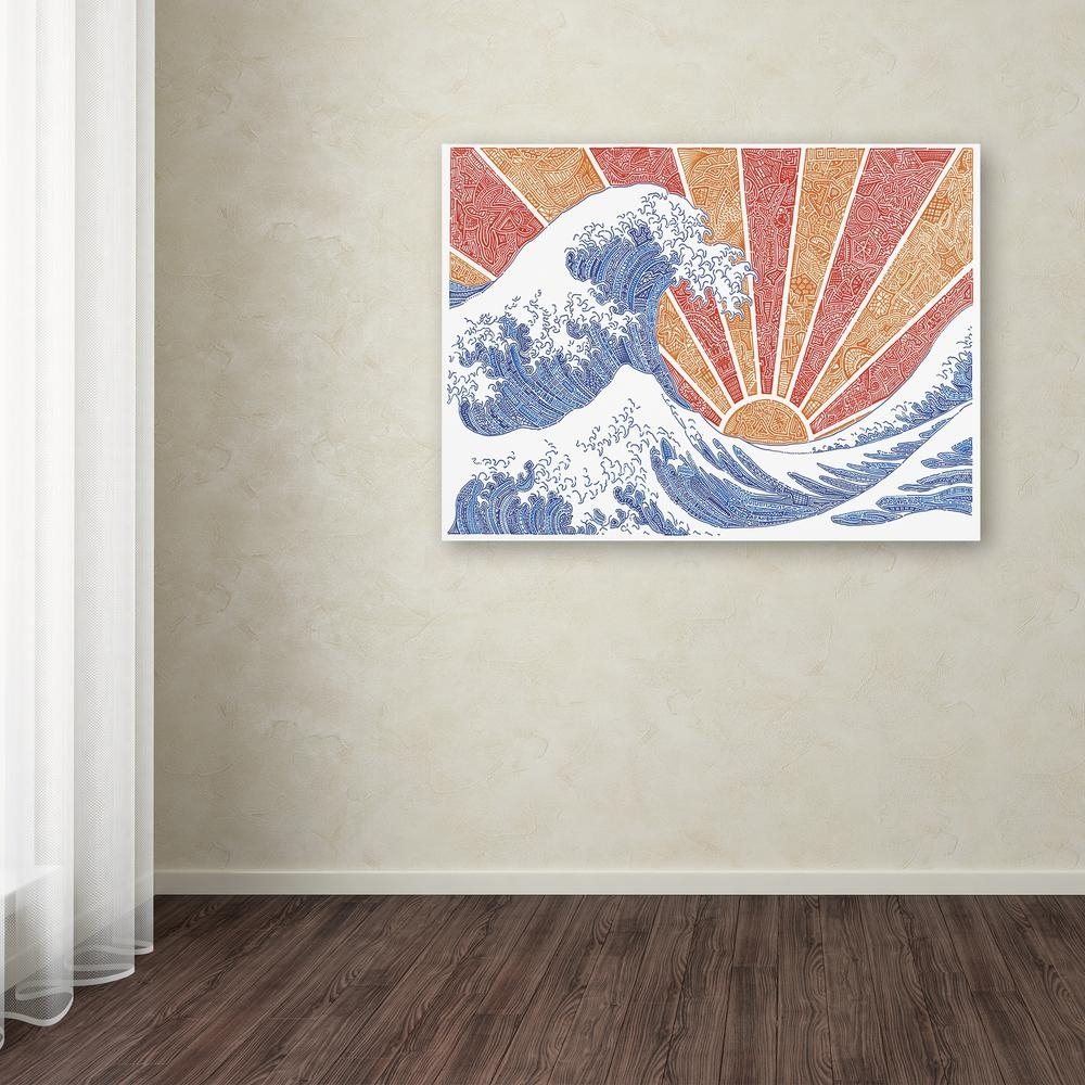 "Trademark Fine Art 14 In. X 19 In. ""off California""viz Art Ink within California Wall Art (Image 18 of 20)"