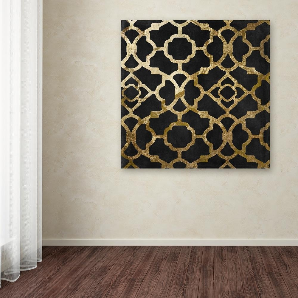 """Trademark Fine Art 18 In. X 18 In. """"moroccan Gold Iv""""color inside Moroccan Wall Art (Image 18 of 20)"""