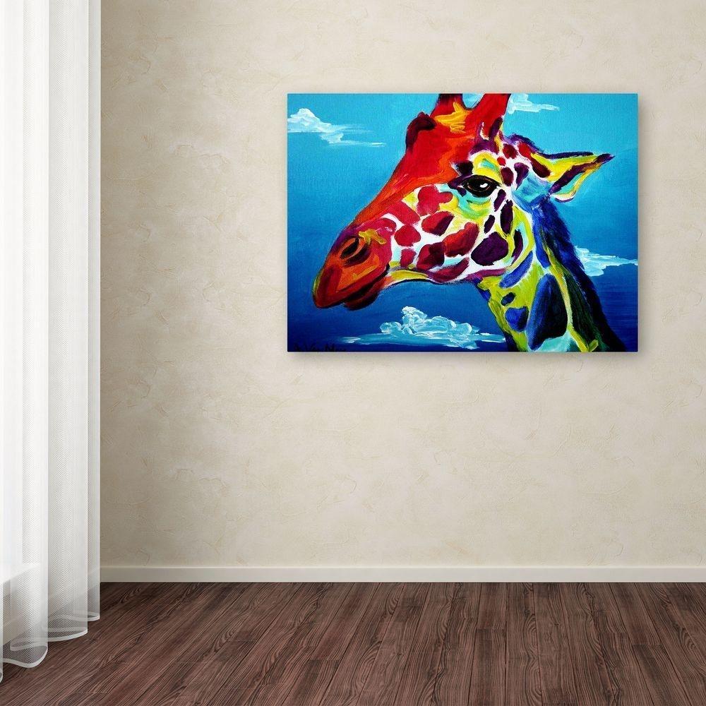 "Trademark Fine Art 18 In. X 24 In. ""giraffe""dawgart Printed inside Giraffe Canvas Wall Art (Image 18 of 20)"