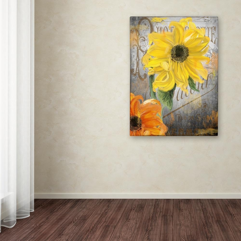 "Trademark Fine Art 32 In. X 24 In. ""sunflower Studio""color pertaining to Sunflower Wall Art (Image 19 of 20)"