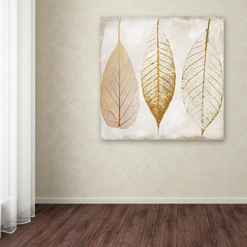 "Trademark Fine Art 35 In. X 35 In. ""fallen Gold Ii""color Bakery with regard to Canvas Wall Art (Image 20 of 20)"