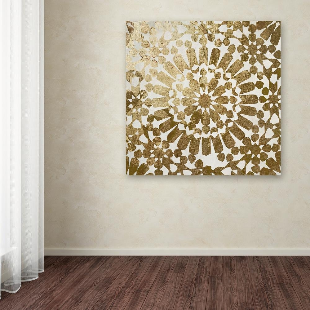 """Trademark Fine Art 35 In. X 35 In. """"moroccan Gold I""""color Bakery regarding Moroccan Wall Art (Image 19 of 20)"""