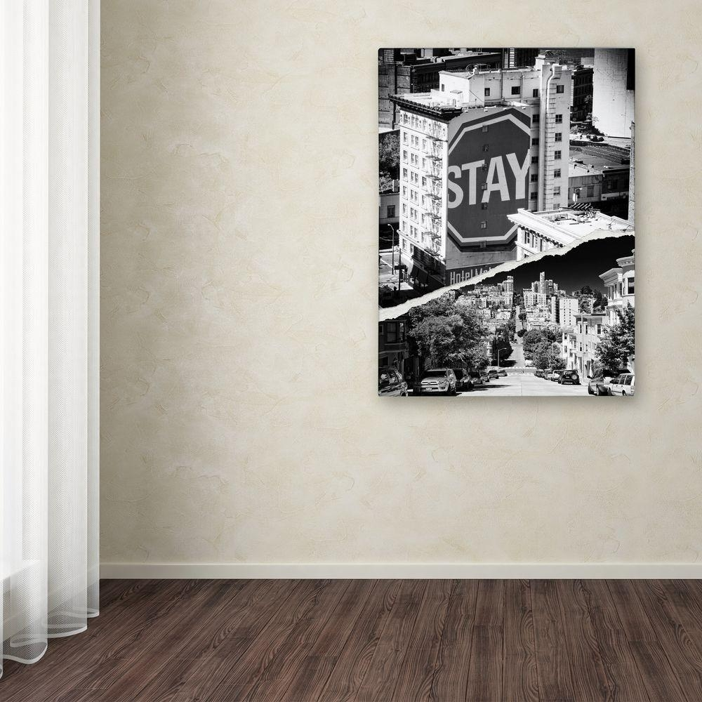 "Trademark Fine Art 47 In. X 35 In. ""staying In San Francisco"" with San Francisco Wall Art (Image 18 of 20)"