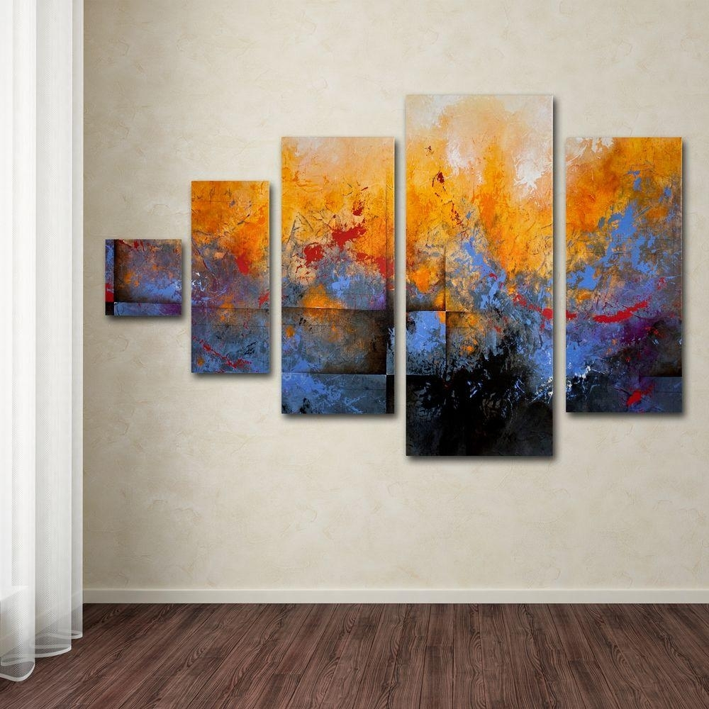 Trademark Fine Art My Sanctuarych Studios 5-Panel Wall Art Set with 5 Panel Wall Art (Image 20 of 20)