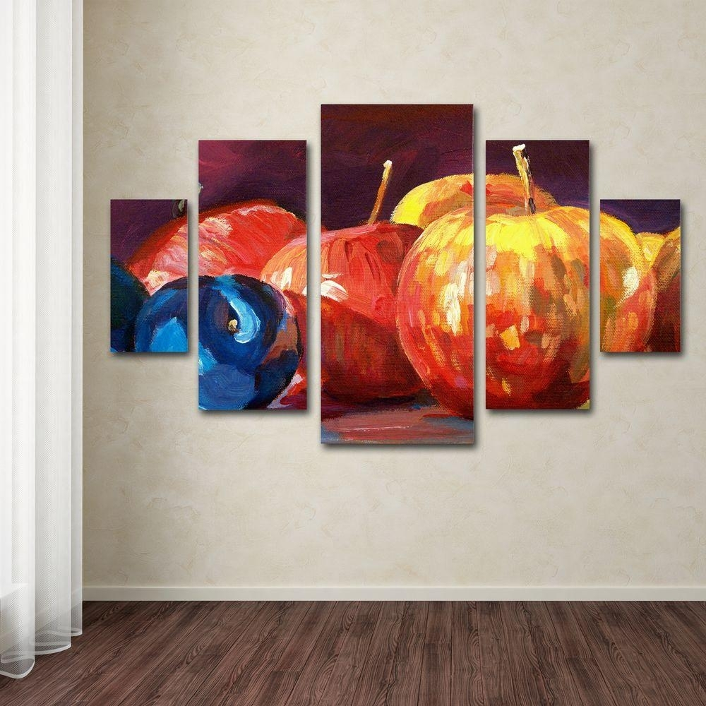 Trademark Fine Art Ripe Plums And Applesdavid Lloyd Glover 5 In Canvas Wall Art Sets (View 16 of 20)