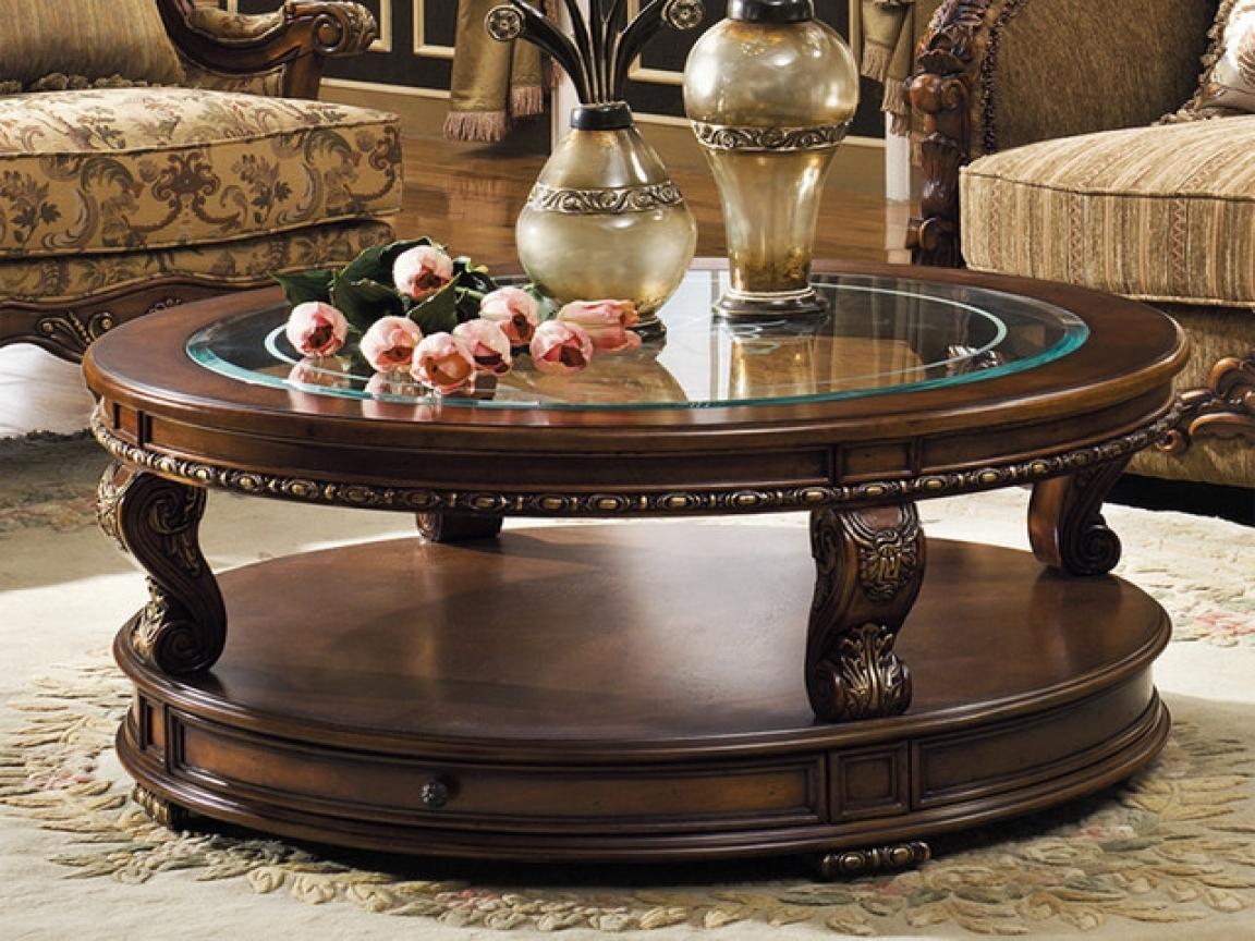 Traditional Coffee Table Sets Round – Thelightlaughed regarding Traditional Coffee Tables (Image 26 of 30)