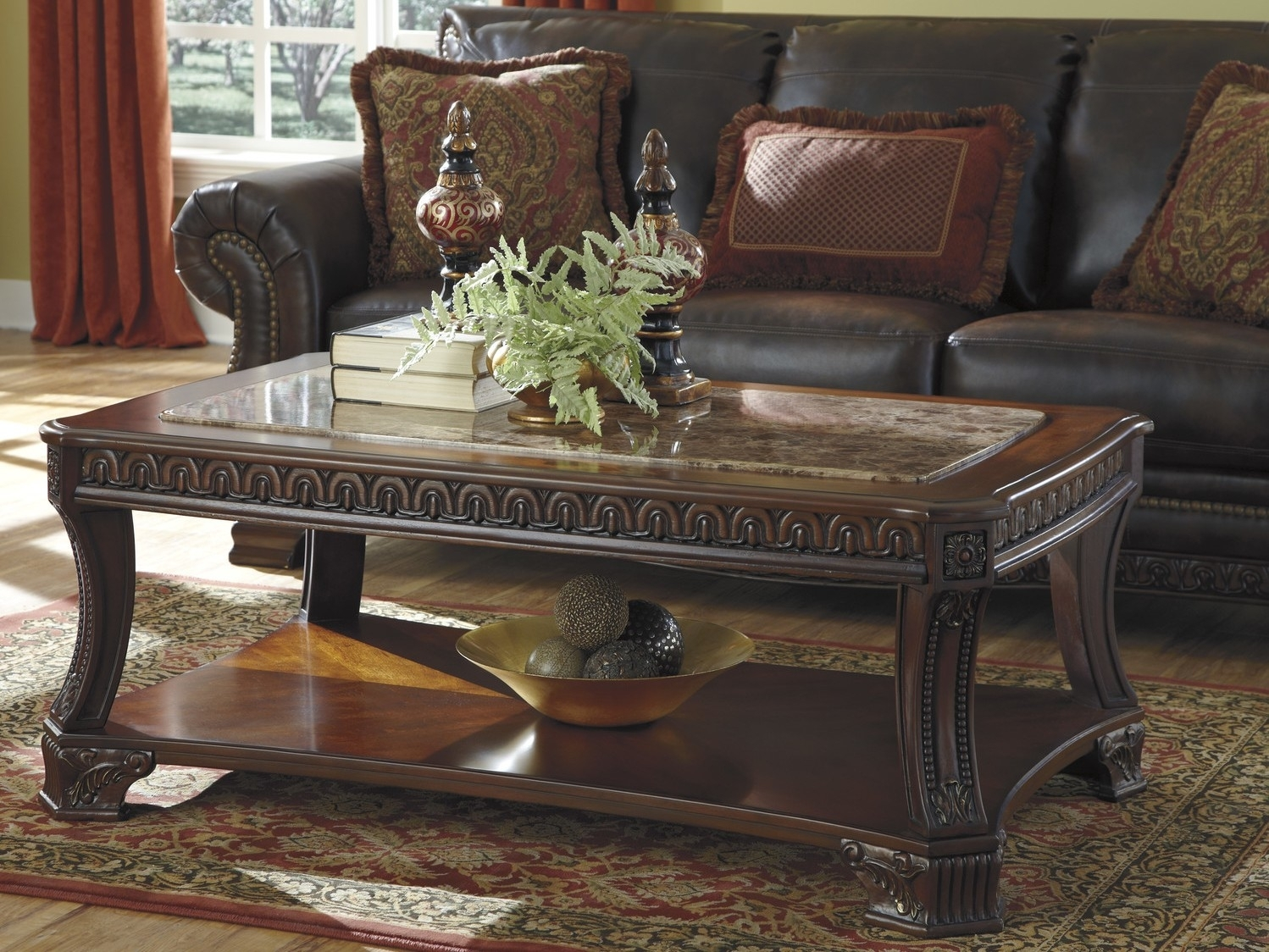 Traditional Coffee Table With Open Shelf | Coffee Tables for Traditional Coffee Tables (Image 27 of 30)