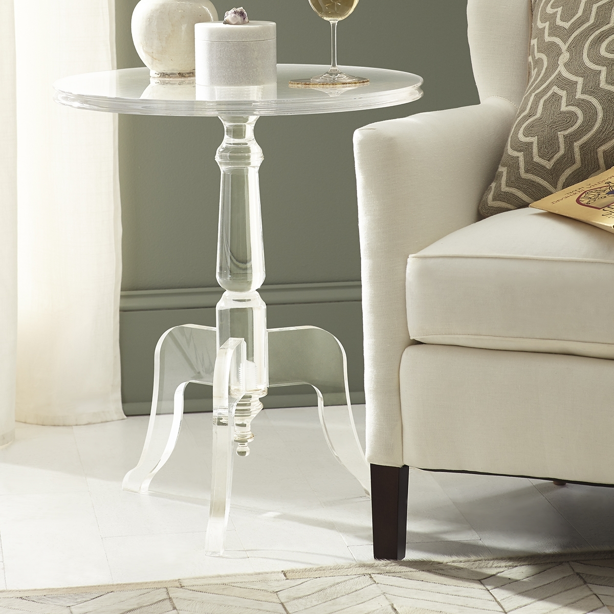 Traditional Ghost Table | Wisteria Within Stately Acrylic Coffee Tables (View 28 of 30)