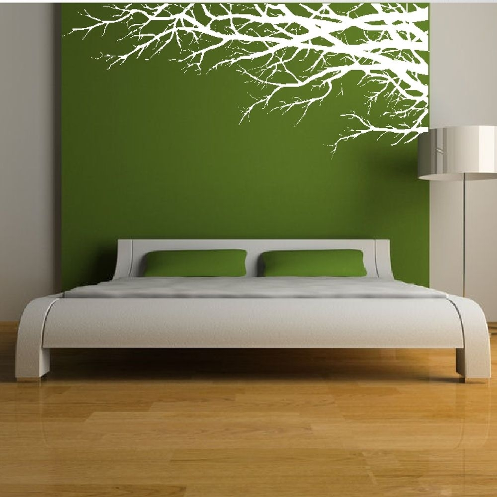Tree Branch Elegant Nature Forest Corner Wall Sticker Art, Nature pertaining to Corner Wall Art (Image 20 of 20)