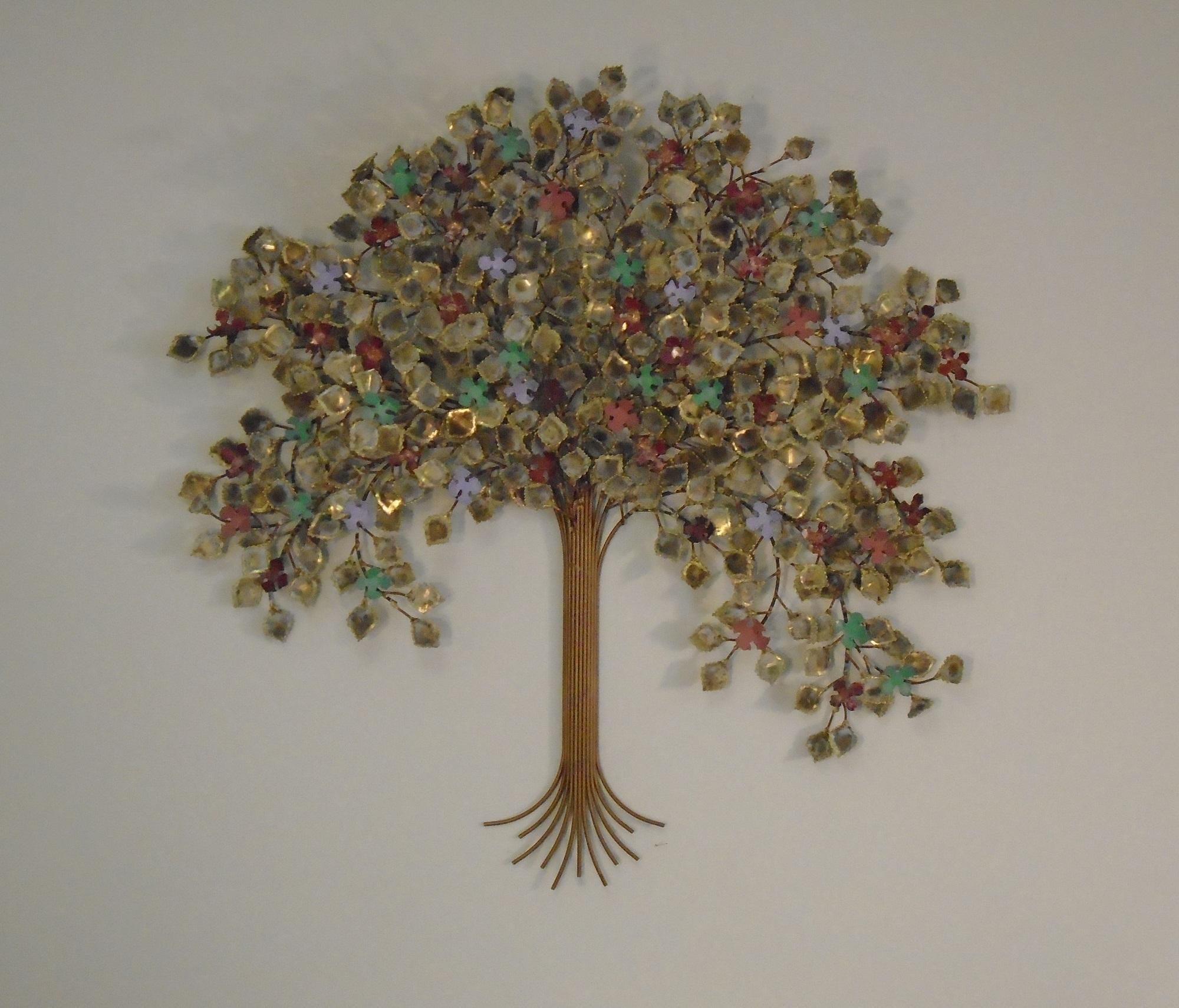 Tree Of Life Metal Wall Art - Metal Sculpture Wall Decor - Gurtan within Metal Tree Wall Art (Image 17 of 21)