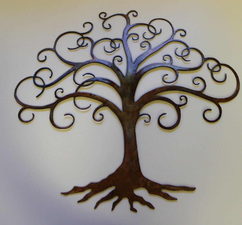 Tree Of Life | Swirled Tree Of Life Metal Wall Art Decor with regard to Metal Wall Art Trees (Image 18 of 20)