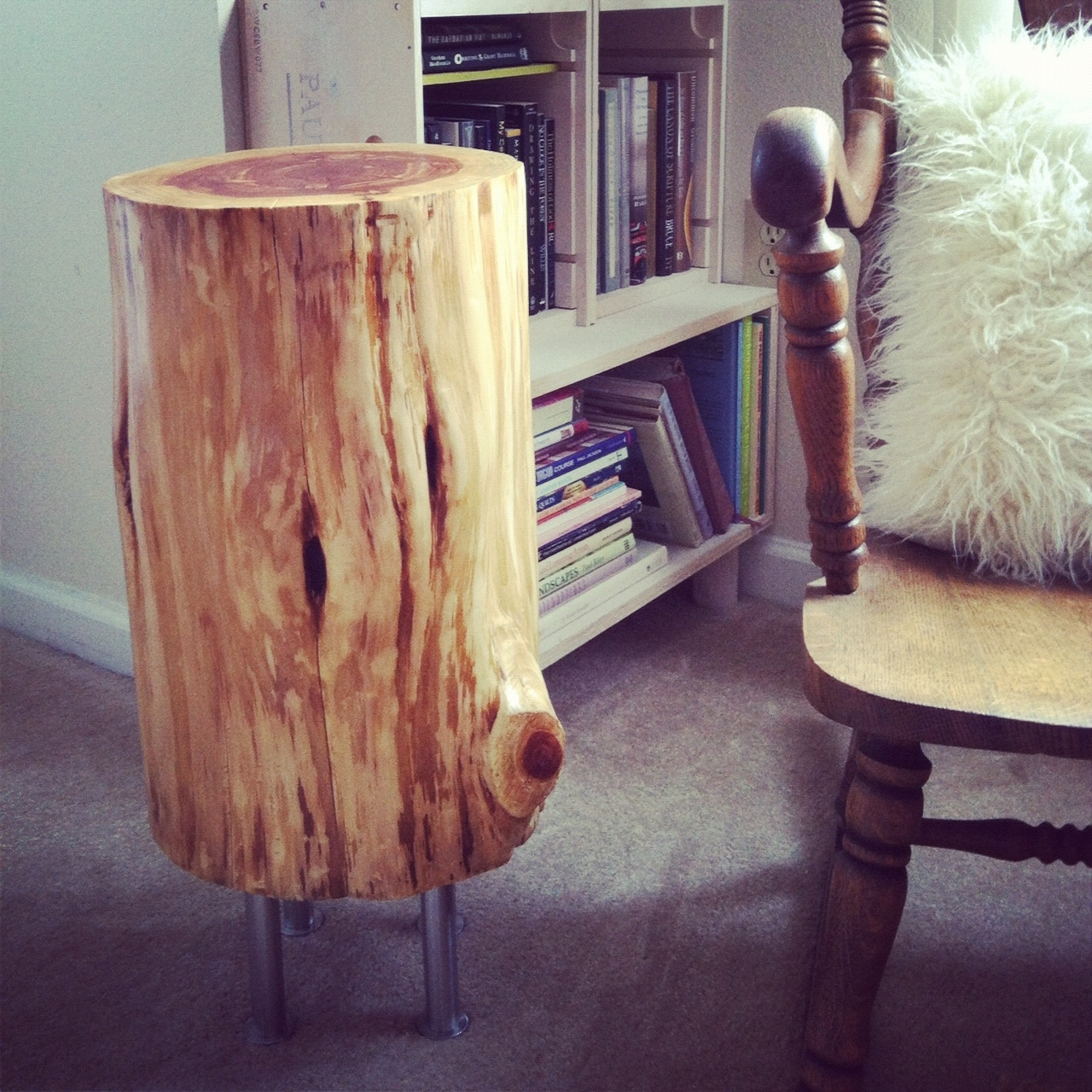 Tree Stump Side Table - A Fork In The Quilt pertaining to Fresh Cut Side Tables (Image 28 of 30)