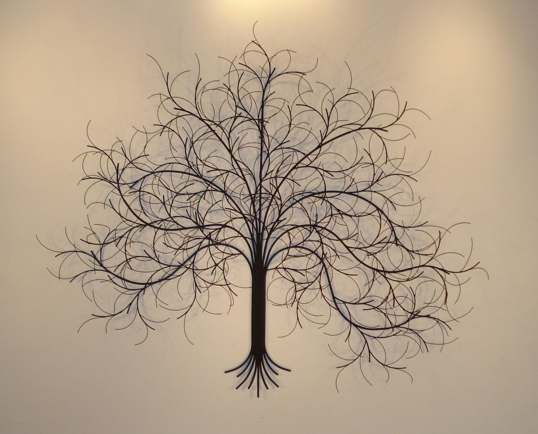 Trees Wall Art Metal Sculpture Metal Decor Pertaining To Metal Tree with regard to Metal Wall Art Sculptures (Image 17 of 20)