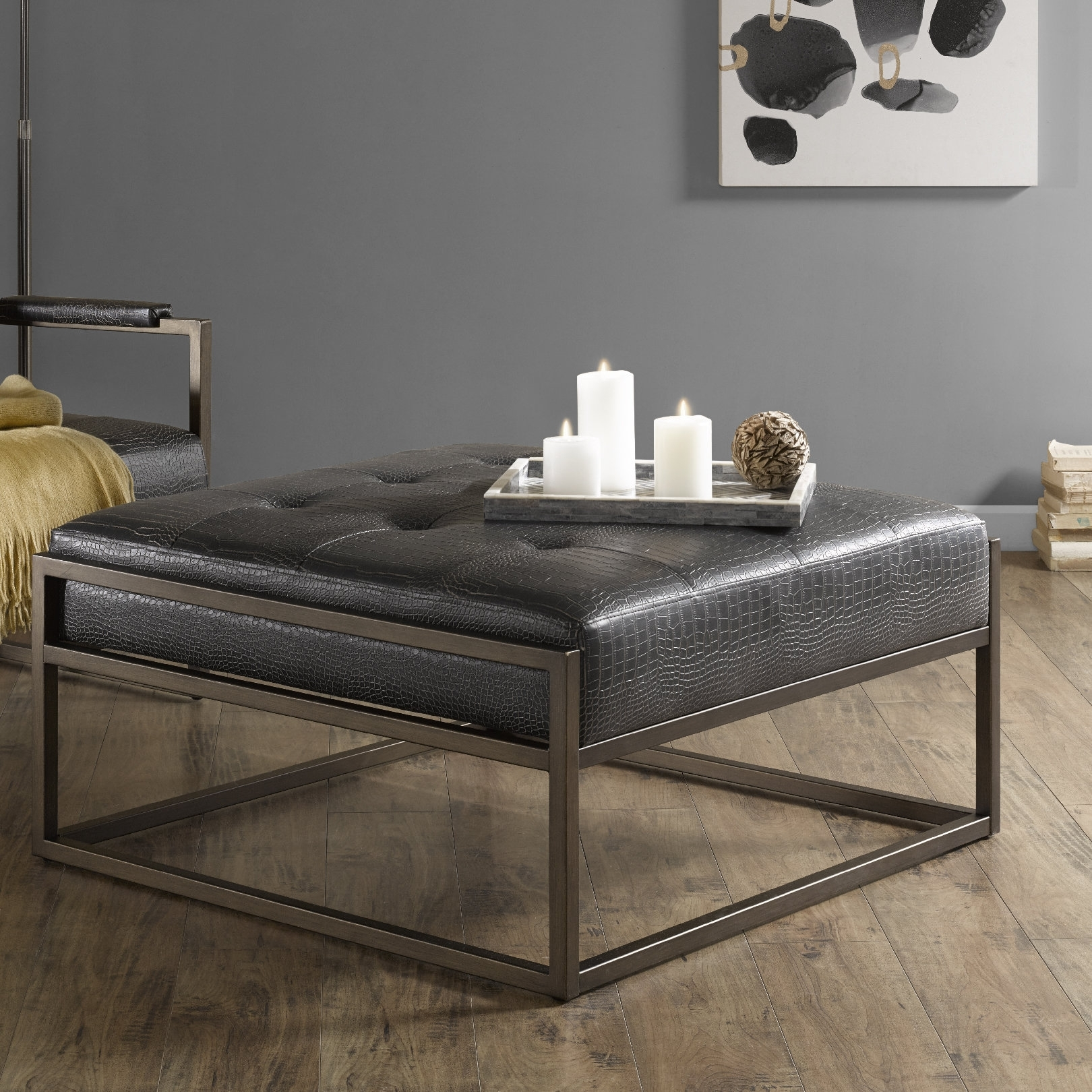 Trent Austin Design Cateline Cocktail Ottoman & Reviews | Wayfair with Elba Ottoman-Coffee Tables (Image 29 of 30)