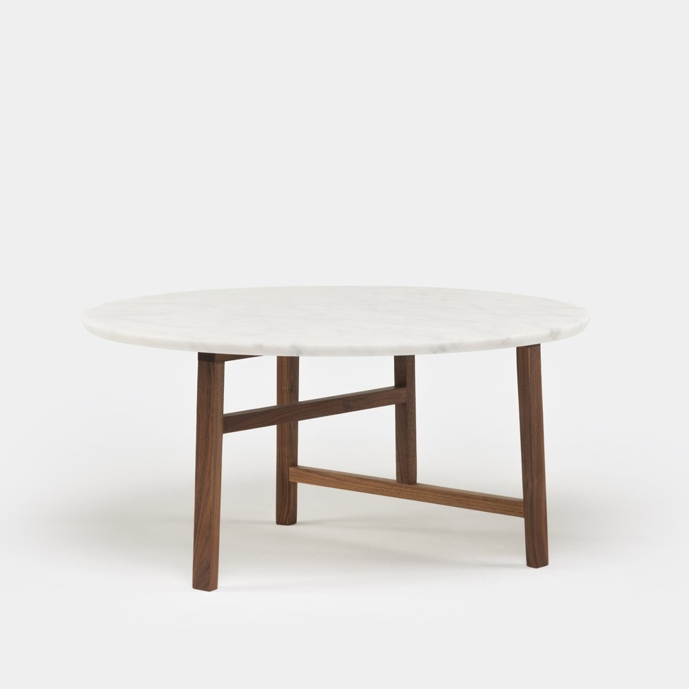 Trio Marble Round Coffee Table | Neri & Hu | The Future Perfect with Suspend Ii Marble And Wood Coffee Tables (Image 29 of 30)