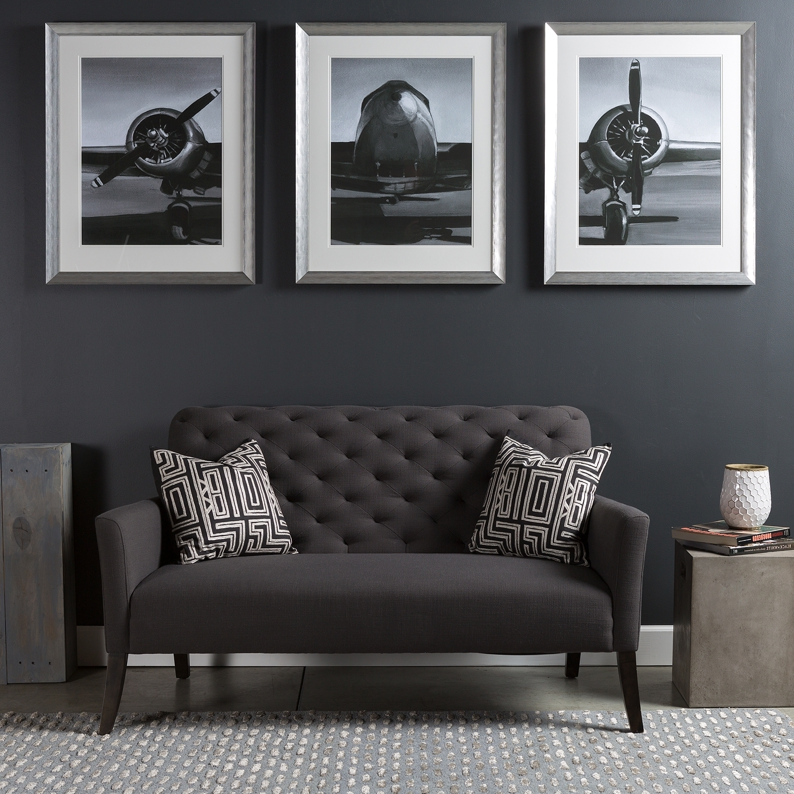 Triptych Wall Art Piece With A Modern Industrial Flare A Series inside Industrial Wall Art (Image 14 of 20)