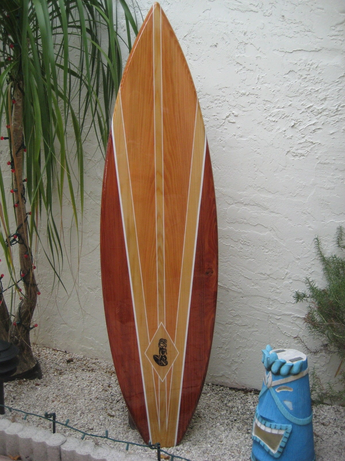 Tropical Decorative Wood Surfboard Wall Art For A Coastal Beach Home Within Surfboard Wall Art (View 14 of 20)