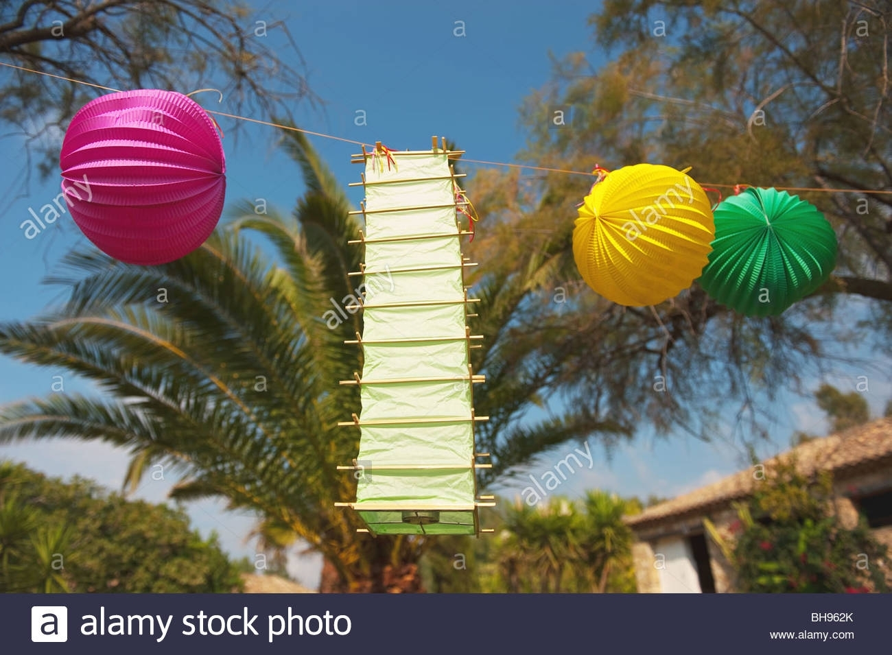 Tropical Party Outdoor In The Garden With Chinese Lanterns Stock intended for Outdoor Tropical Lanterns (Image 20 of 20)