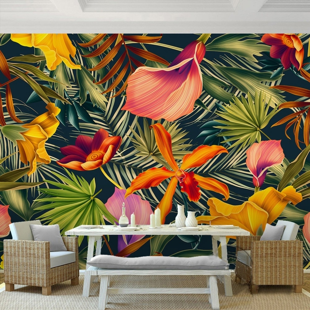 Tropical Wall Art Paint | Blackbearonwater Home For Tropical Wall Art (Photo 6 of 20)