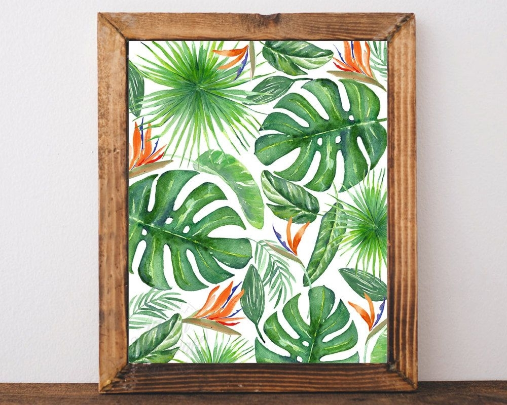 Tropical Wall Decor Black And White — Room Decor : How To Decorate Within Tropical Wall Art (View 13 of 20)