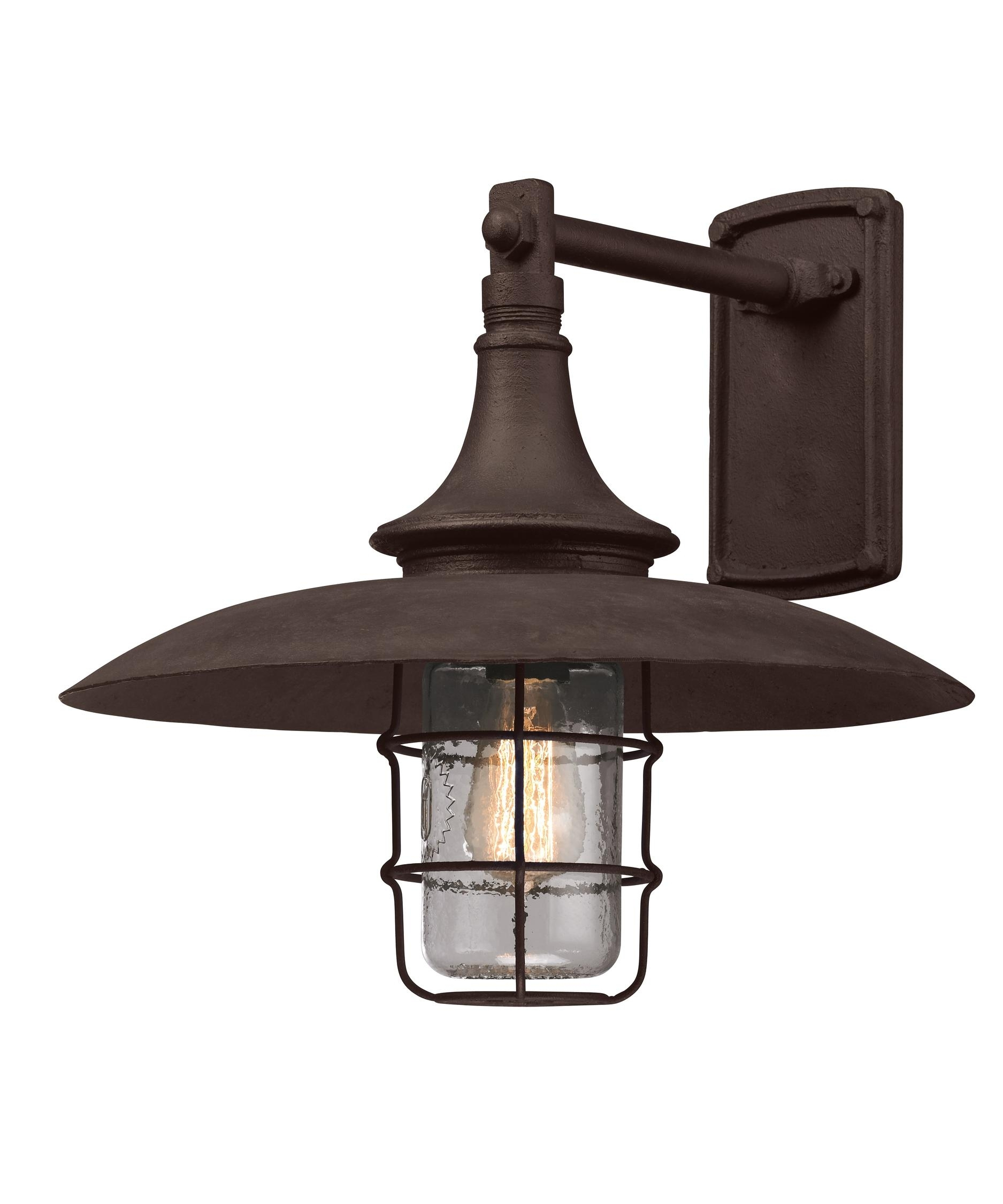 Troy Lighting B3222 Allegany 16 Inch Wide 1 Light Outdoor Wall Light for Industrial Outdoor Lanterns (Image 18 of 20)