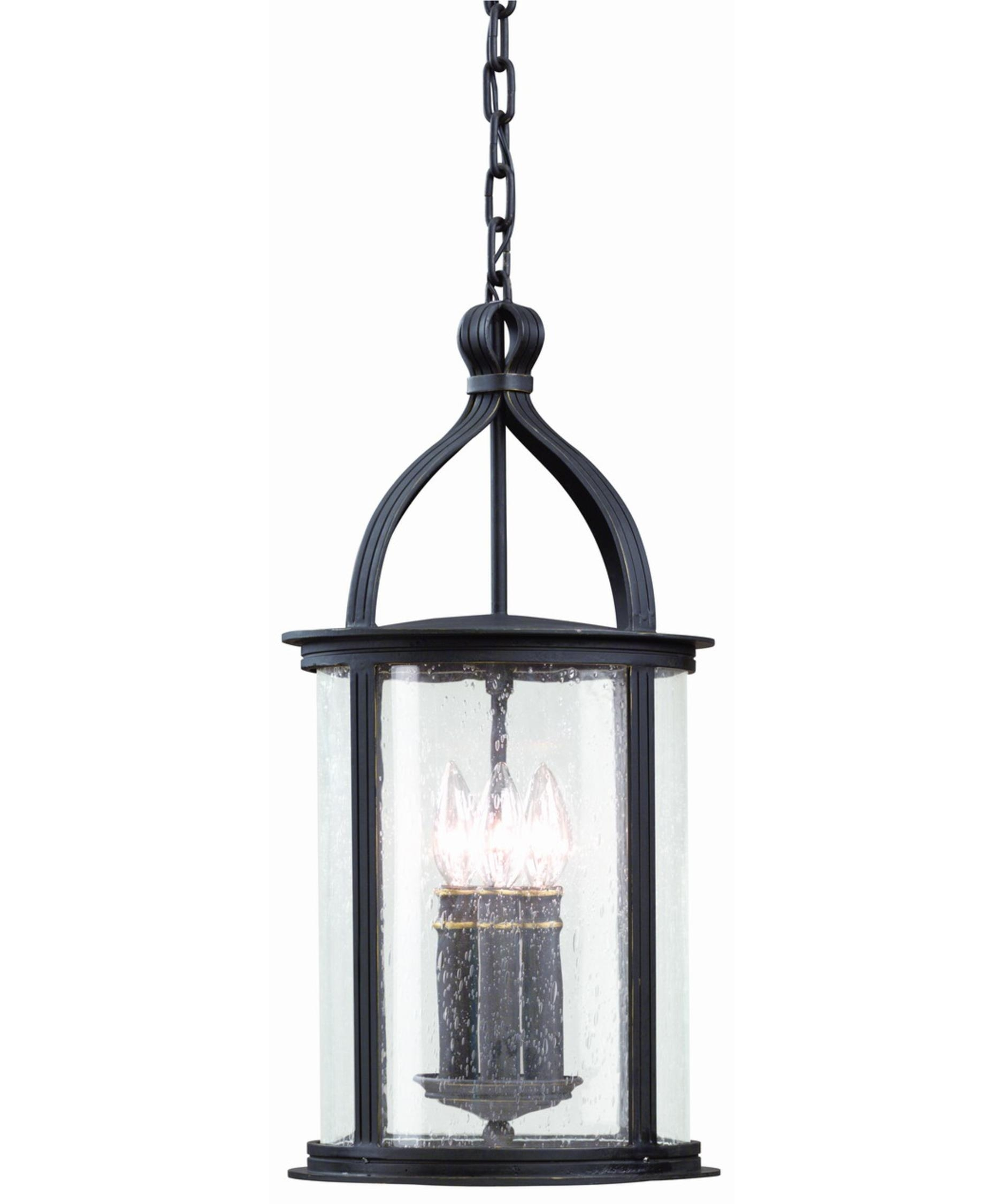 Troy Lighting F9476 Scarsdale 10 Inch Wide 3 Light Outdoor Hanging within Outdoor Glass Lanterns (Image 19 of 20)