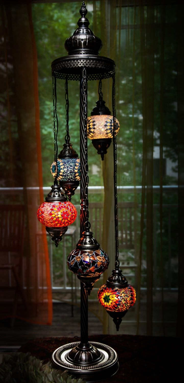 Turkish / Moroccan Style Mosaic Glass Lamp. There Is Nothing In My pertaining to Moroccan Outdoor Electric Lanterns (Image 19 of 20)